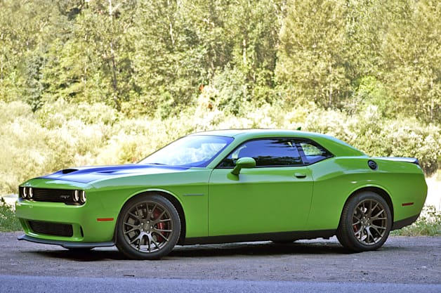 2015 Dodge Challenger SRT Hellcat - front three-quarter view, green