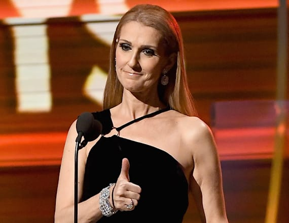 Celine Dion remembers late husband at GRAMMYs