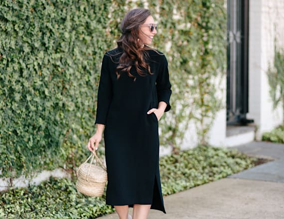 Street style tip of the day: Black midi dress