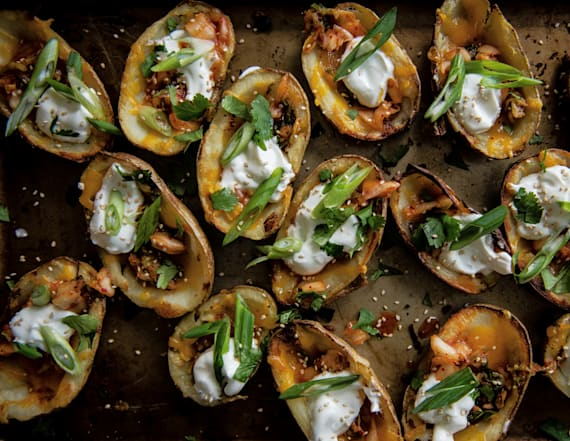Kimchi potato skins are the perfect appetizer