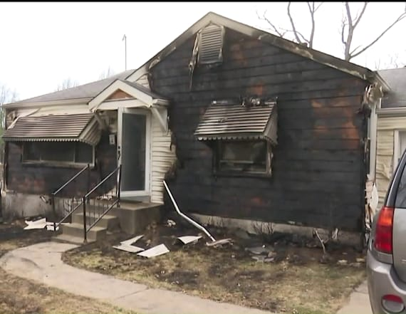 Man trying to get rid of moles sets house on fire