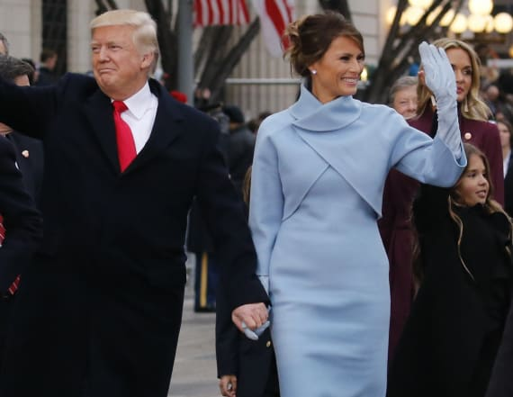 Look for less: Melania Trump's pale blue dress
