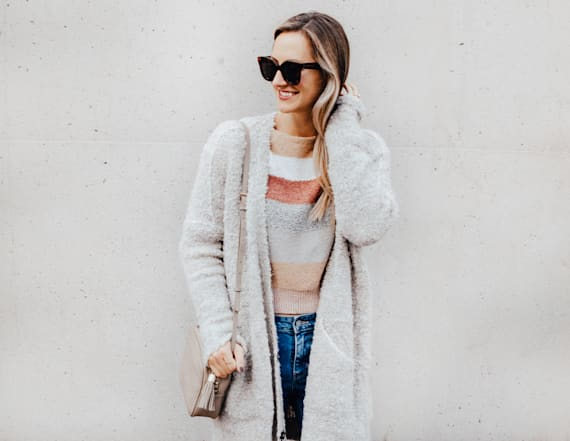 How to layer textured sweaters
