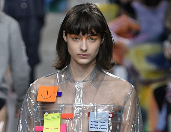 Odd fashion accessory raises eyebrows at LFW