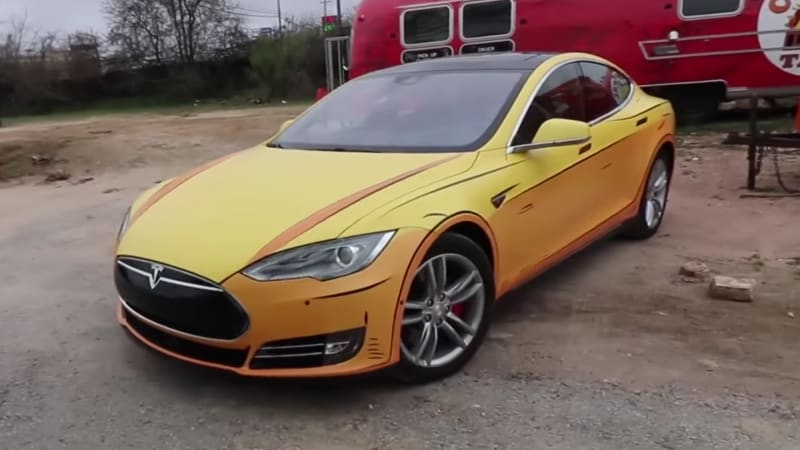 This Tesla Looks Like It Was Ripped Out Of A Comic Book
