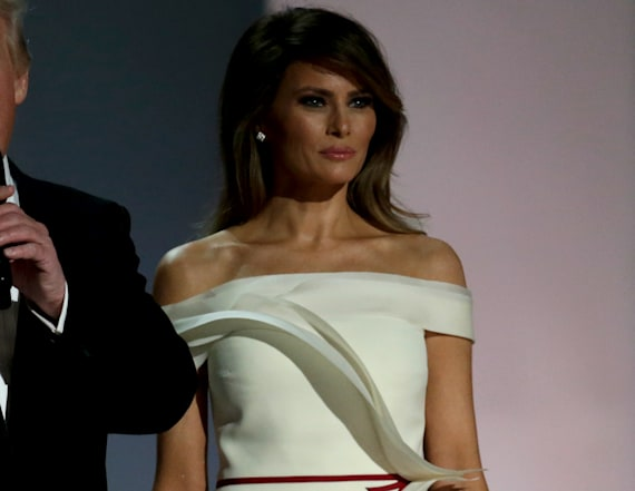 Melania Trump wows in white at 2017 inaugural ball