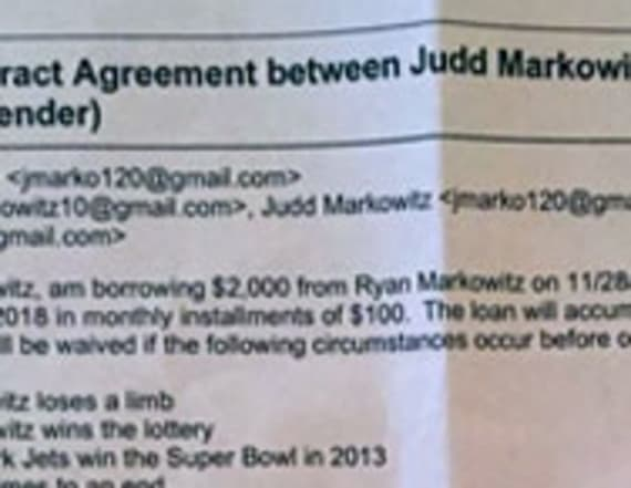 Man's loan contract from 2012 is going viral