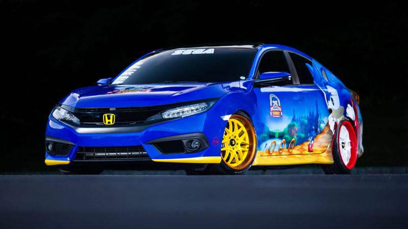 Sonic-themed Honda Civic spin-dashes into Comic-Con