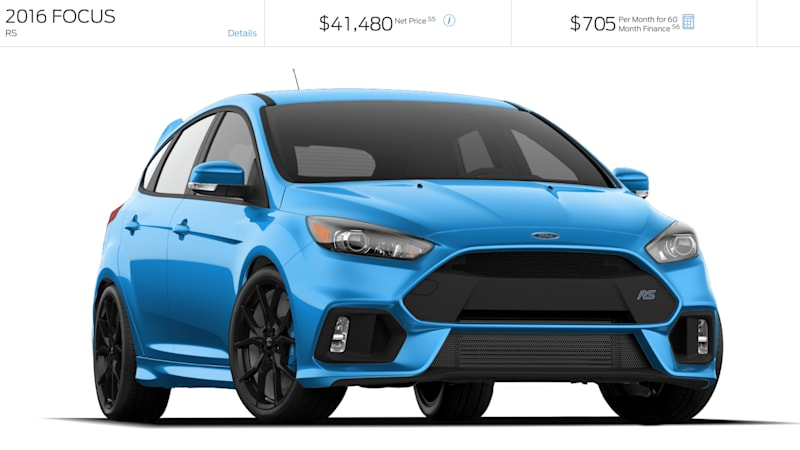 Ford Focus RS configurator hits the Internet