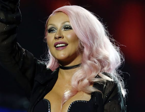 Christina Aguilera makes very rare outing