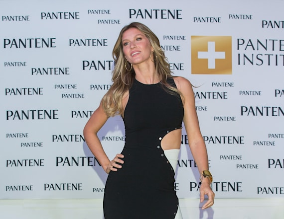 Gisele Bundchen poses in tiny blue bikini