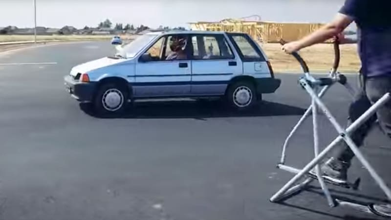 Watch this perfect parody of Ken Block's Gymkhana videos