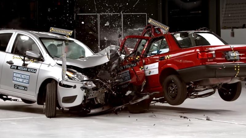 what 20 years of safety progress looks like in one crash autoblog. Black Bedroom Furniture Sets. Home Design Ideas