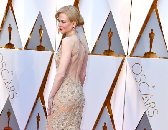Nicole Kidman did something wild to her Oscars dress