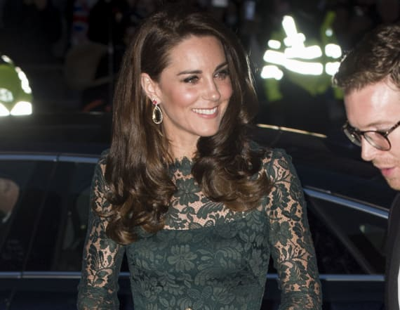 Gorgeous in green: Kate Middleton gets all dolled up