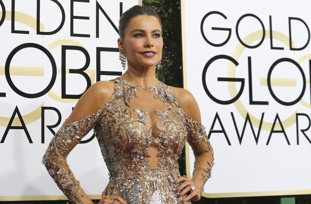 Stars rock metallic dresses at the 2017 Golden Globe Awards