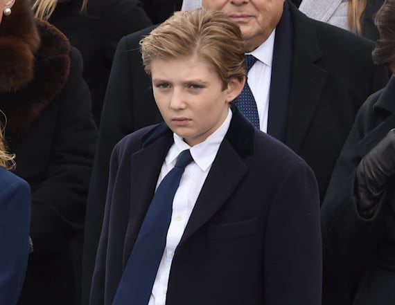 Barron Trump tries to entertain Ivanka's baby