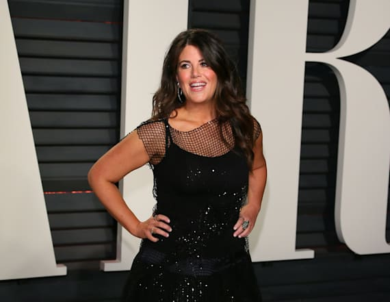 Monica Lewinsky hits Oscars party
