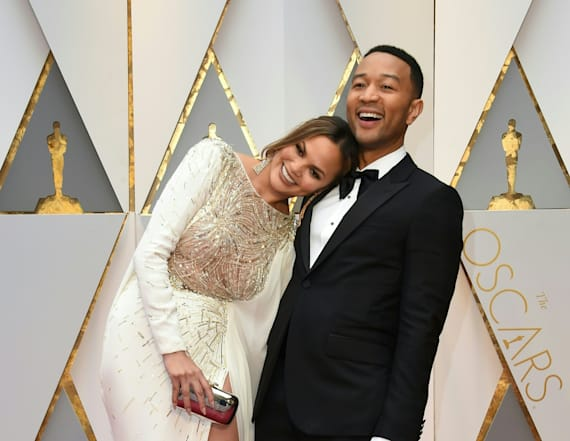 Chrissy Teigen hits the bar as Oscars kick off
