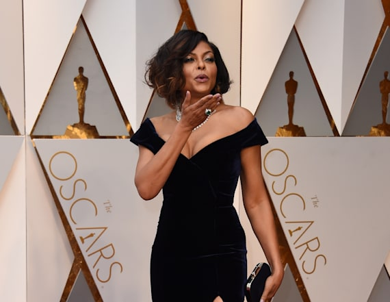 Taraji P. Henson slays in blue velvet Oscars gown