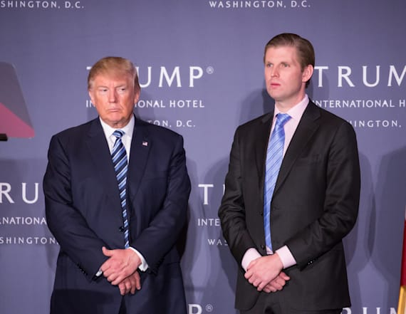 Eric Trump plans to show father financial reports