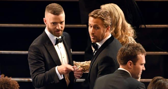 Oscars 2017: Ryan Gosling and Justin Timberlake Had a 'Mickey Mouse Club' Reunion