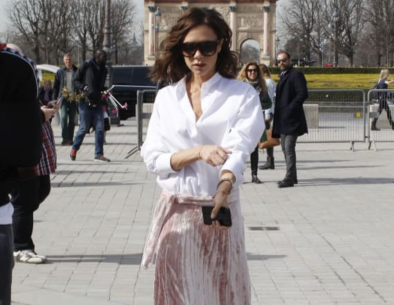 Victoria Beckham wore the chicest skirt for spring