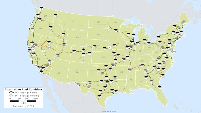 These maps and signs will help EV and alt-fuel drivers with range anxiety