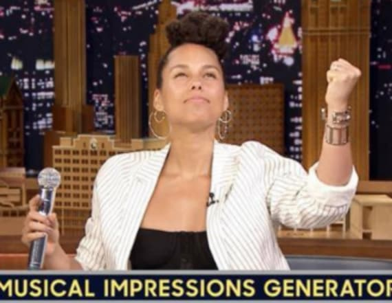 Alicia Keys' amazing Adele impersonation