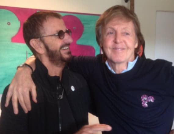 Ringo Starr and Paul McCartney snapped together