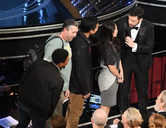 Kimmel surprises tour bus with Oscars trip