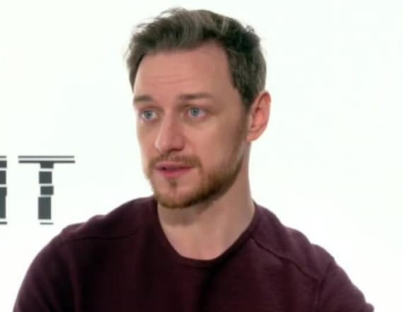 What James McAvoy just did for the 'first time'