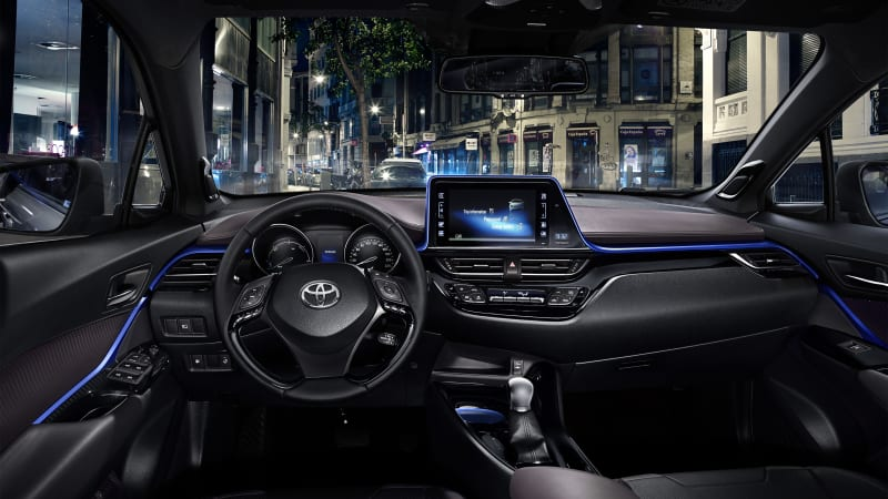 Toyota C-HR crossover's interior is as funky as the outside