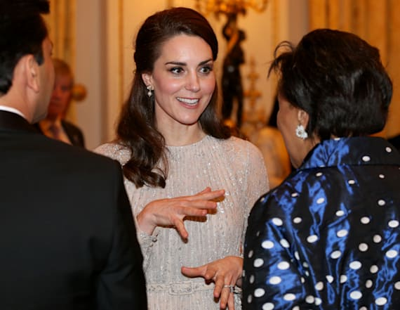 Duchess Kate sparkles in Erdem at Palace reception