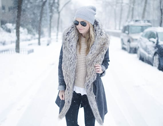 Street style tip of the day: Snow day chic