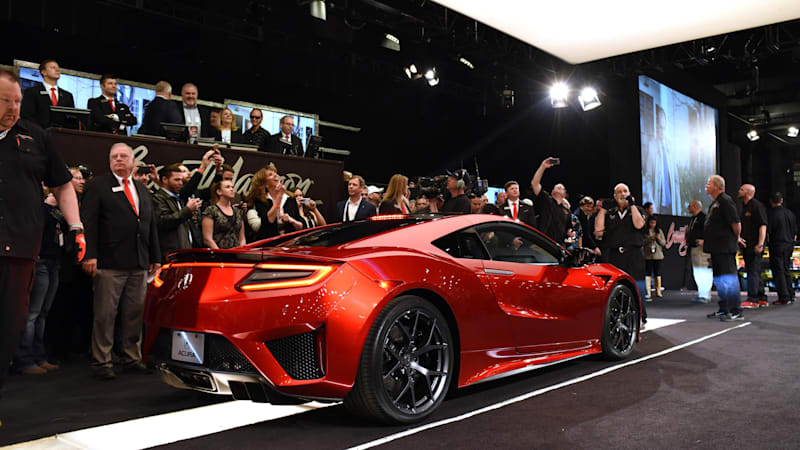 acura nsx 001 sells for 1 2 million autoblog. Black Bedroom Furniture Sets. Home Design Ideas