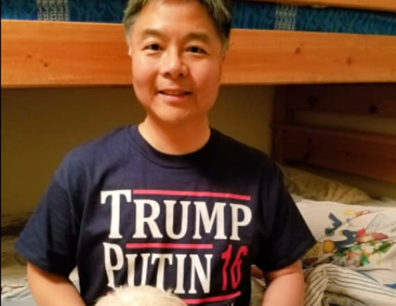 Dem lawmaker shows off 'Trump, Putin 2016' shirt