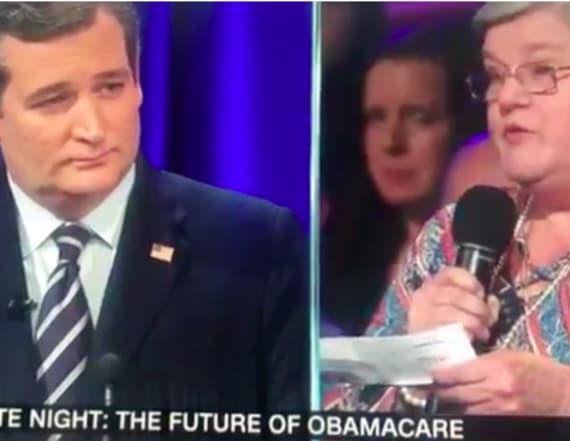 Cruz congratulates woman who has multiple sclerosis