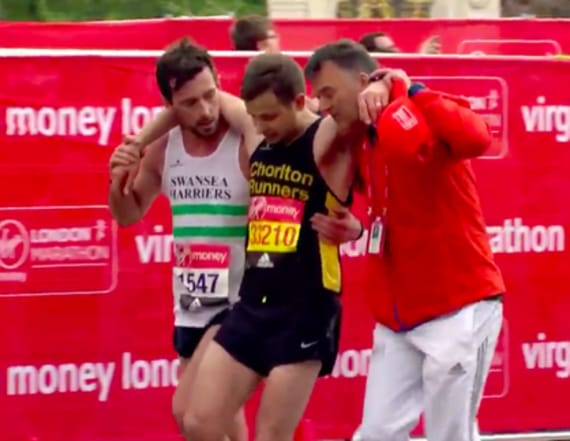 London marathoner helps struggling fellow runner