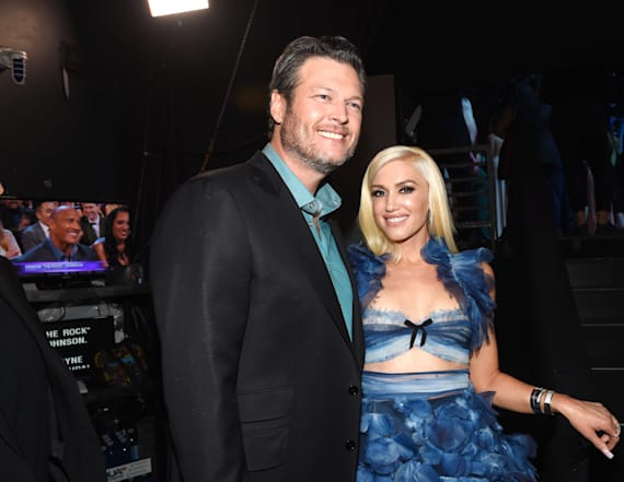 Gwen Stefani performs at Blake's LA show