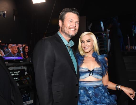 Gwen Stefani performs at Blake's LA show