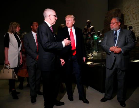 Trump visits African-American Heritage Museum