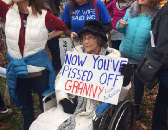 Women's March protestors get creative with signs