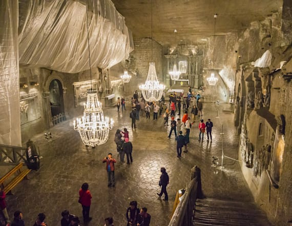 Chapel made entirely of salt hides deep underground