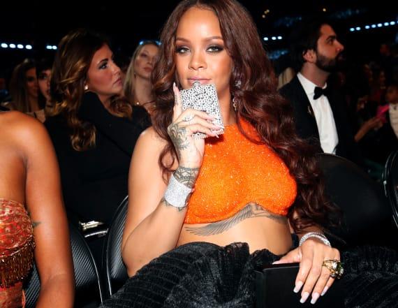 Rihanna's unexpected GRAMMYs accessory
