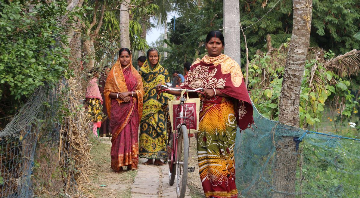 Internally displaced people at Sagar Island, Sundarbans, West Bengal.