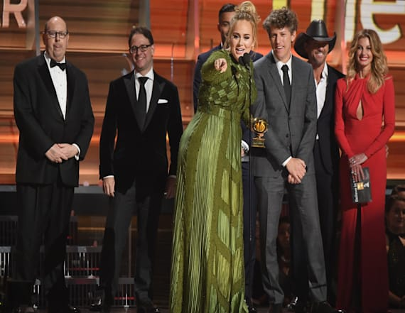 Adele made subtle, big reveal at GRAMMYs