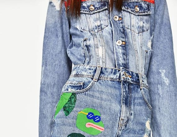 Zara pulled a skirt for 'Pepe the Frog' detail