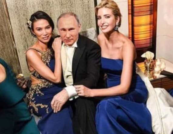 Ivanka Trump seen with Vladimir Putin in fake image