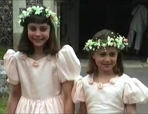 See Kate and Pippa as adorable bridesmaids in 1991